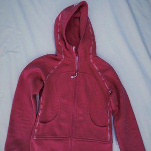 Lululemon pink full-zip hooded coat
